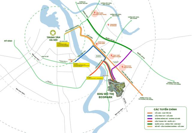 """Ecopark – """"Thành phố triệu cây xanh"""" nằm ở phía Đông Nam thủ đô - 1"""