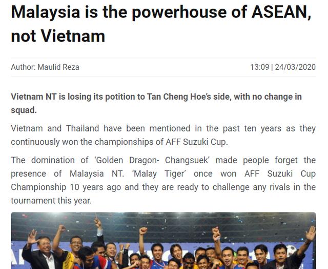 """Báo châu Á: """"Đội tuyển Việt Nam không còn là số 1 Đông Nam Á"""" - 1"""