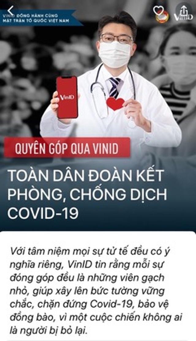 VinIDtrở thành kênh quyên góp ủng hộ phòng chống dịch Covid-19 - 3