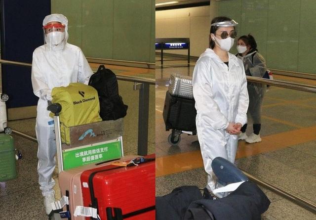 Thái Trác Nghiên, Chung Hân Đồng che kín người ở sân bay - 2
