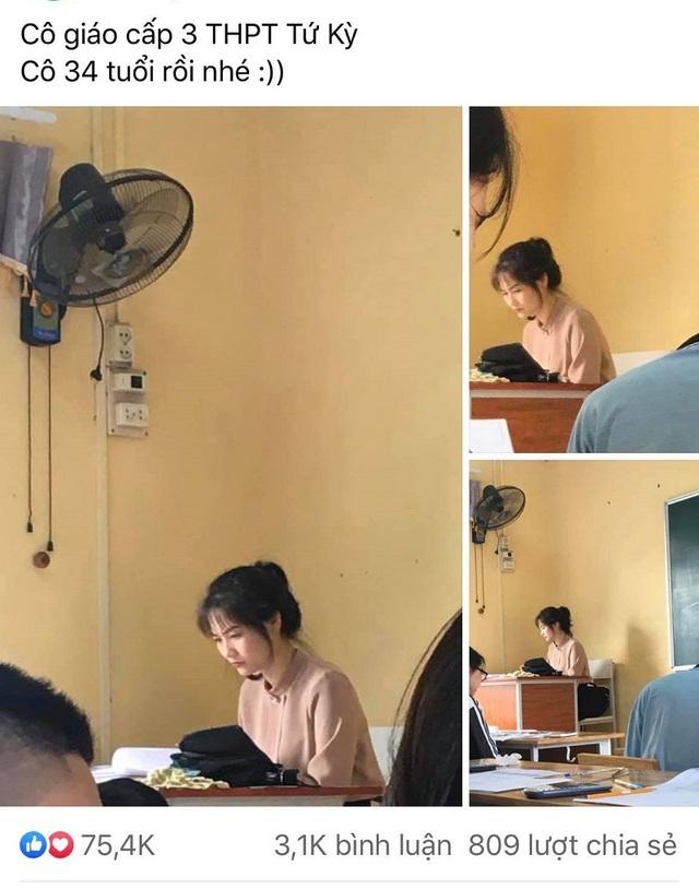 """Cô giáo Hải Dương gây """"bão"""" mạng với khoảnh khắc học sinh chụp lén - 1"""