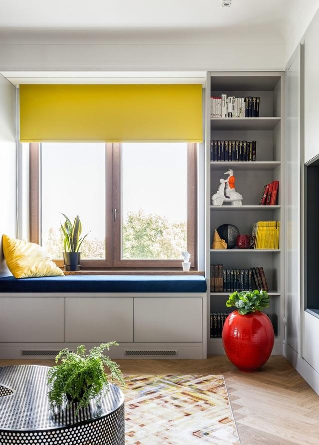 Ngôi nhà trang trí nội thất màu xanh và vàng lạ mắt - 2