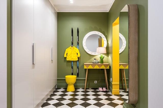Ngôi nhà trang trí nội thất màu xanh và vàng lạ mắt - 8