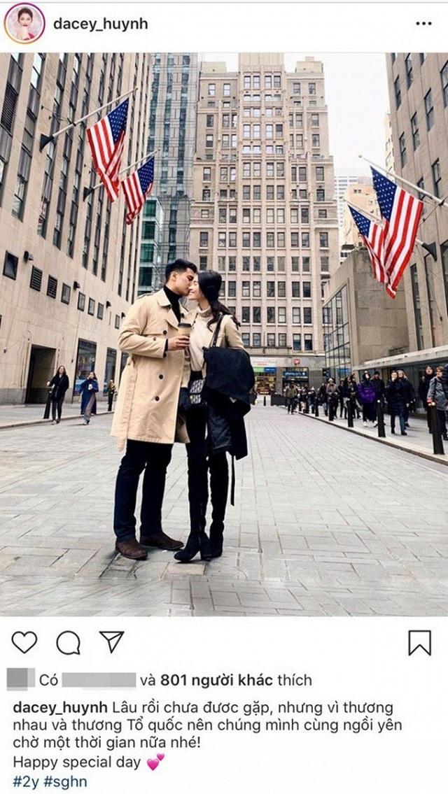 """Á hậu Thùy Dung bất ngờ """"khoe"""" bạn trai soái ca kỷ niệm ngày yêu - 1"""