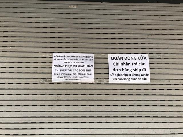 Tránh dịch Covid-19, hàng quán Hà Nội đồng loạt đóng cửa, chỉ nhận ship  - 6