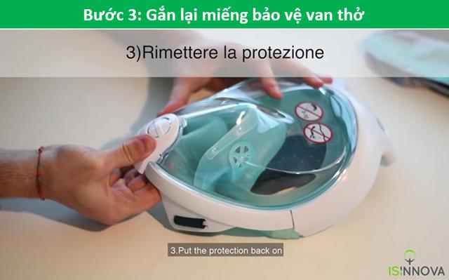 Kỹ sư Ý biến mặt nạ lặn thành mặt nạ dưỡng khí phục vụ chống dịch Covid-19 - 6