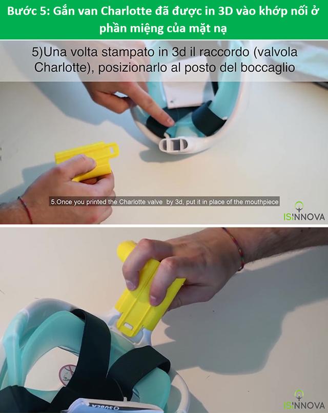 Kỹ sư Ý biến mặt nạ lặn thành mặt nạ dưỡng khí phục vụ chống dịch Covid-19 - 8