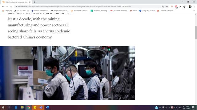 Các DN công nghiệp Trung Quốc thất thu cực điểm trong hơn một thập kỉ qua - 1