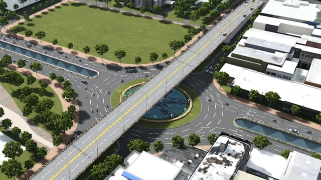 Đà Nẵng khởi công cải tạo nút giao thông phía tây cầu Trần Thị Lý - 1