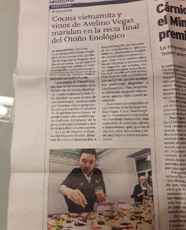 Du học sinh Việt dùng thức ăn vẽ tranh nghệ thuật lên báo Tây Ban Nha - 10