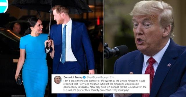 Vợ chồng Harry thẳng thừng đáp trả Tổng thống Trump chuyện phí an ninh - 1