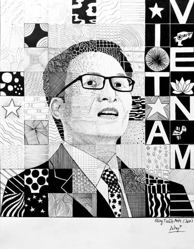 Sinh viên mỹ thuật đồ họa vẽ tranh người hùng Phó Thủ tướng Vũ Đức Đam - 6