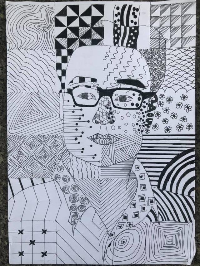 Sinh viên mỹ thuật đồ họa vẽ tranh người hùng Phó Thủ tướng Vũ Đức Đam - 7