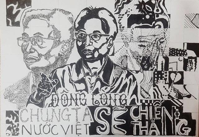 Sinh viên mỹ thuật đồ họa vẽ tranh người hùng Phó Thủ tướng Vũ Đức Đam - 8
