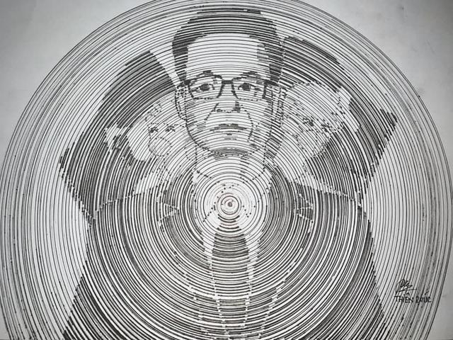 Sinh viên mỹ thuật đồ họa vẽ tranh người hùng Phó Thủ tướng Vũ Đức Đam - 9