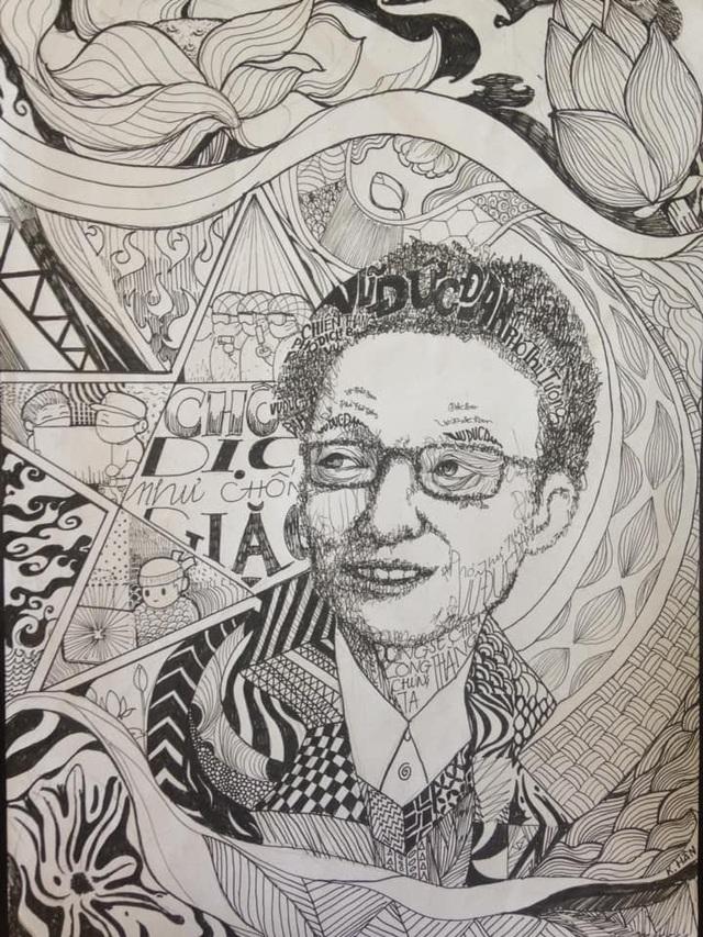 Sinh viên mỹ thuật đồ họa vẽ tranh người hùng Phó Thủ tướng Vũ Đức Đam - 10