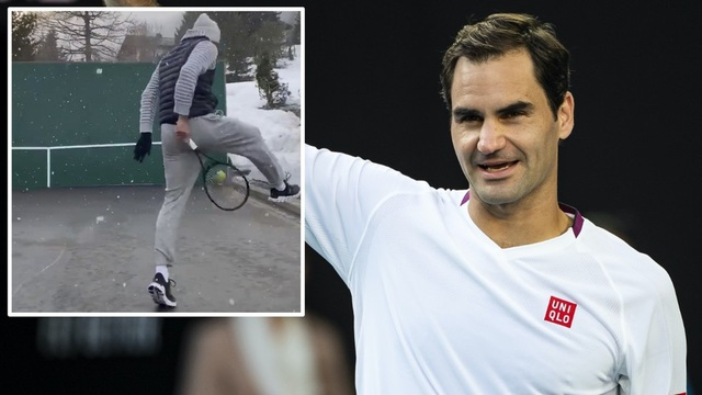 Ở nhà phòng dịch Covid-19, Roger Federer biểu diễn kỹ thuật hoàn hảo - 1