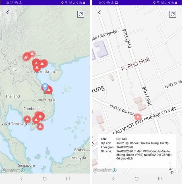 Ứng dụng giúp cho xác định những địa điểm mà người gặp Covid-19 đã đi qua - 2