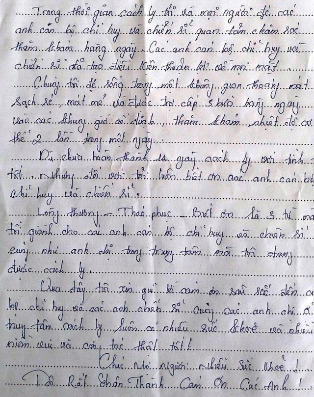 Những dòng thư nặng nghĩa tình gửi tới chiến sĩ trong khu cách ly - 5