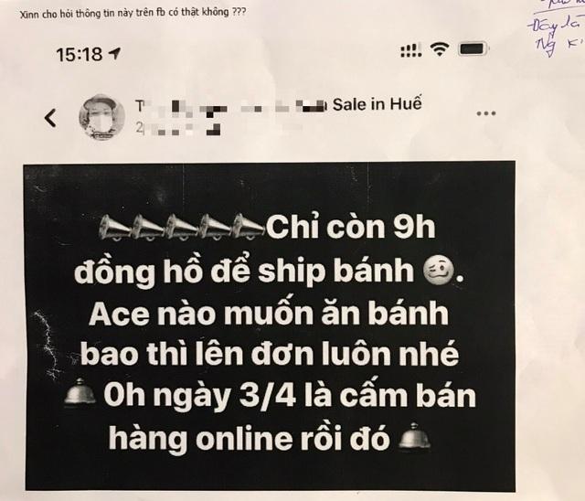 """Bị xử phạt vì tung tin """"cấm bán hàng online từ 3/4"""" - 1"""