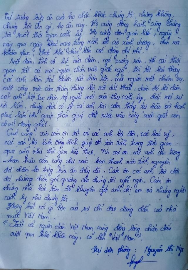 Những dòng thư nặng nghĩa tình gửi tới chiến sĩ trong khu cách ly - 7