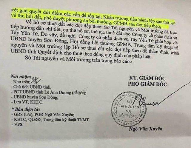 Thoát lao lý, lãnh đạo Sở Tài nguyên Bắc Giang nói gì với cơ quan điều tra? - 3