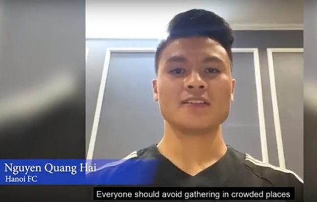 AFC chọn Quang Hải để truyền cảm hứng phòng chống dịch Covid-19 toàn cầu - 1