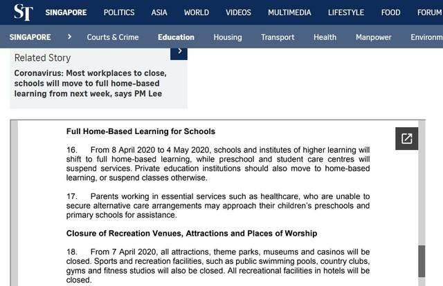 Covid-19: Singapore đóng cửa trường học chỉ 2 tuần sau khi mở cửa trở lại - 1