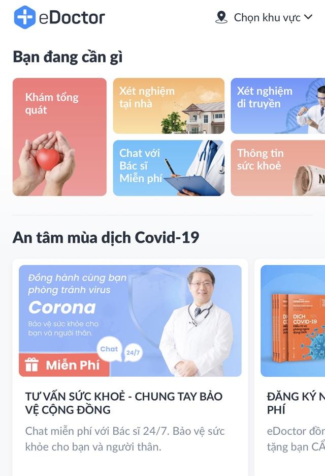 """eDoctor hỗ trợ """"Chat với bác sĩ""""- tư vấn miễn phí qua ứng dụng di động - 2"""