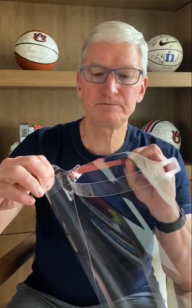 Apple tự thiết kế và trao tặng tấm chắn ngăn giọt bắn cho nhân viên y tế - 1