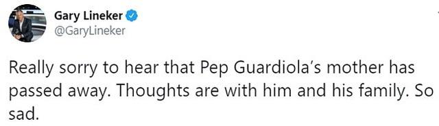 Các ngôi sao bóng đá đồng loạt chia buồn khi mẹ HLV Pep Guardiola qua đời - 3