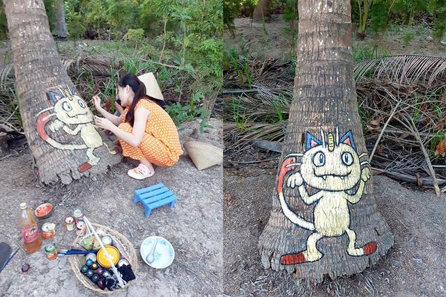 Ở nhà tránh Covid-19, cô gái Trà Vinh trang trí vườn dừa gây chú ý - 3