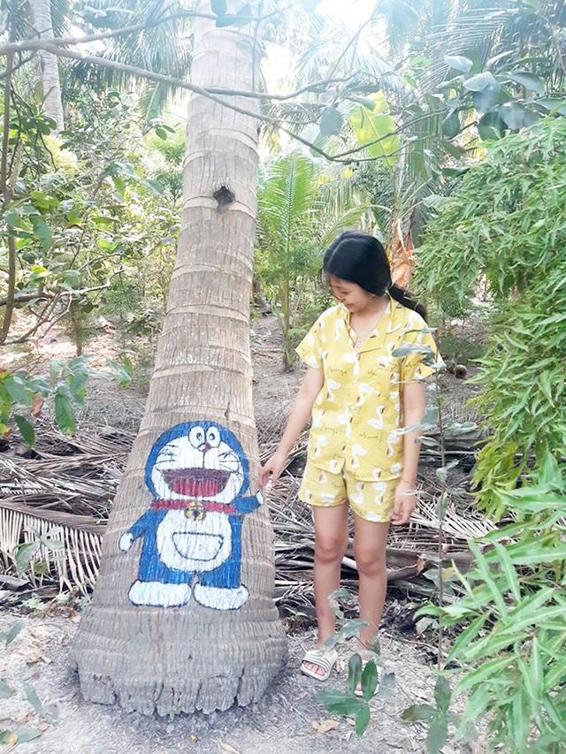 Ở nhà tránh Covid-19, cô gái Trà Vinh trang trí vườn dừa gây chú ý - 6