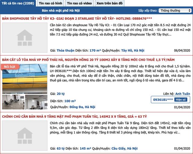 Hàng loạt chủ nhà rao bán nhà phố mặt tiền trung tâm với giá giật mình - 1