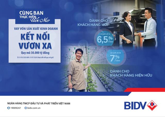 BIDV - Cho vay duy trì sản xuất kinh doanh mùa Covid 19, lãi suất từ 6,5%/năm - 1