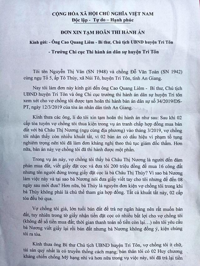 Hai vợ chồng già khốn khổ trước bản án của 2 cấp toà tỉnh An Giang! - 5