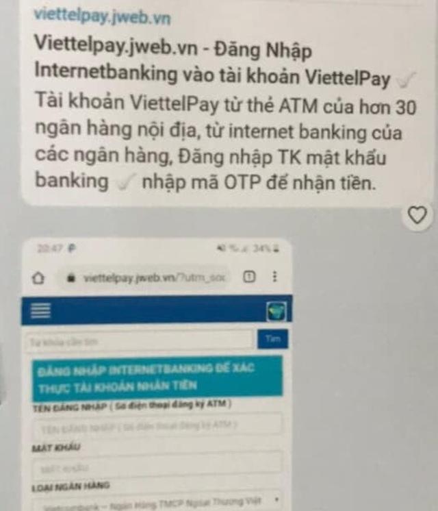 Công an Hà Nội cảnh báo giả mạo Viettelpay để lừa đảo chiếm đoạt tài sản - 1