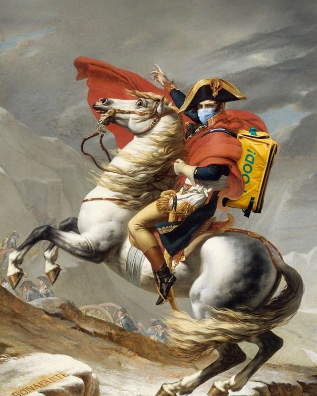 Các nhân vật trong siêu phẩm hội họa... tuyên truyền chống dịch Covid-19 - 1