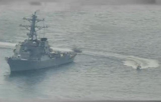 """Cận cảnh tàu Iran """"vây"""" dàn tàu chiến Mỹ tại vịnh Ba Tư - 5"""