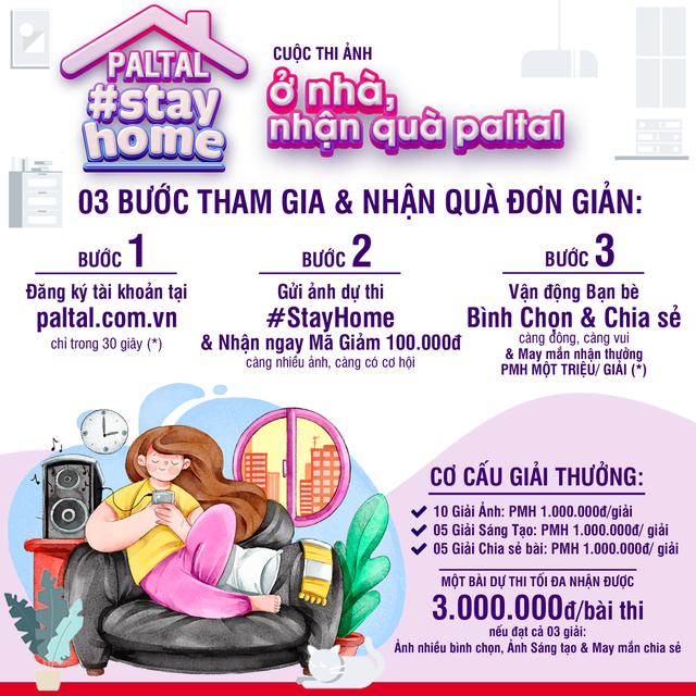 PALTAL #StayHome: Nhận ưu đãi tháng Tư, tặng khẩu trang kháng khuẩn, cơ hội PMH 1.000.000đ - 1