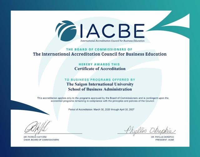 Trường đại học đầu tiên ở Việt Nam đạt kiểm định của IACBE - 2