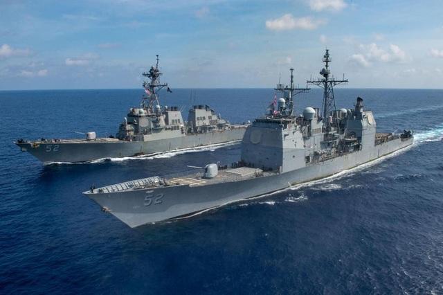Tàu hộ vệ Australia diễn tập cùng 3 tàu chiến Mỹ trên Biển Đông - 1