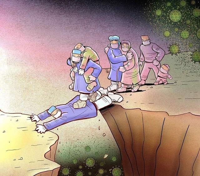 Dân mạng chia sẻ những hình ảnh ý nghĩa cổ vũ y, bác sĩ chống dịch Covid-19 - 10