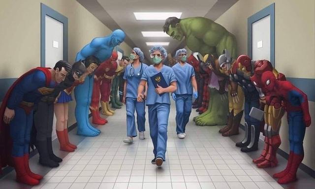 Dân mạng chia sẻ những hình ảnh ý nghĩa cổ vũ y, bác sĩ chống dịch Covid-19 - 3