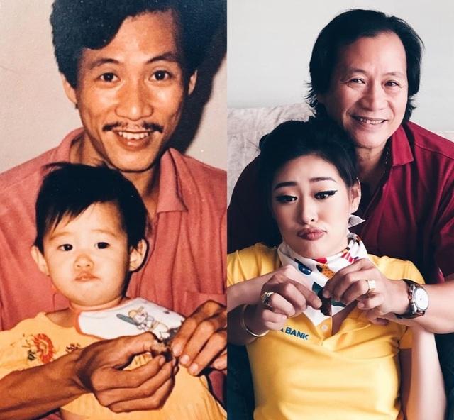 """Hoa hậu Khánh Vân """"tái hiện"""" ảnh chụp lúc 1 tuổi cùng ba mẹ - 4"""