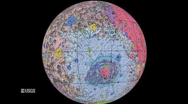 Bản đồ địa chất toàn diện đầu tiên về bề mặt của Mặt trăng - 1