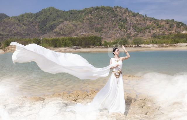 Người đẹp Triệu Hà Vy đẹp thoát tục trong bộ ảnh hóa thân nữ thần - 3