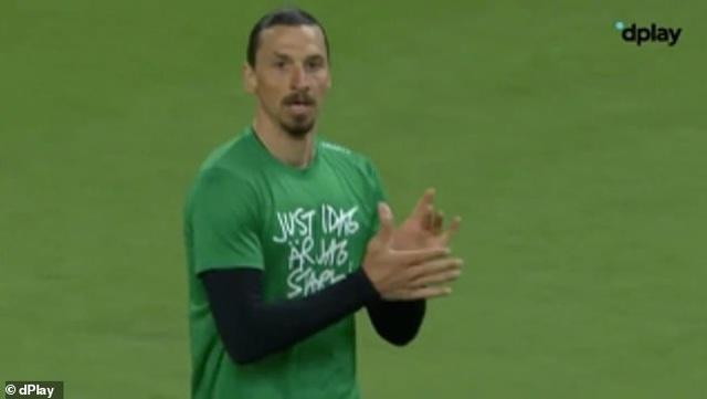 Ibrahimovic ghi bàn trong trận đấu tập tại Thuỵ Điển - 1