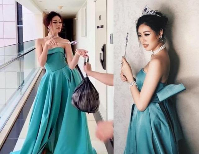 Hoa hậu, siêu mẫu diện đầm dạ hội… đi đổ rác - 1