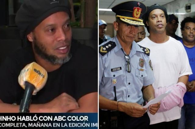 Ronaldinho lần đầu trải lòng về những ngày tháng trong tù - 1